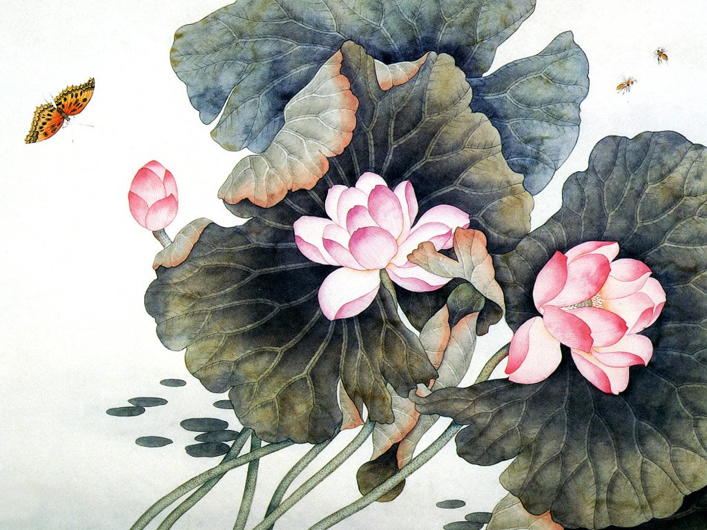 Artistic Wallpaper: Chinese Flower