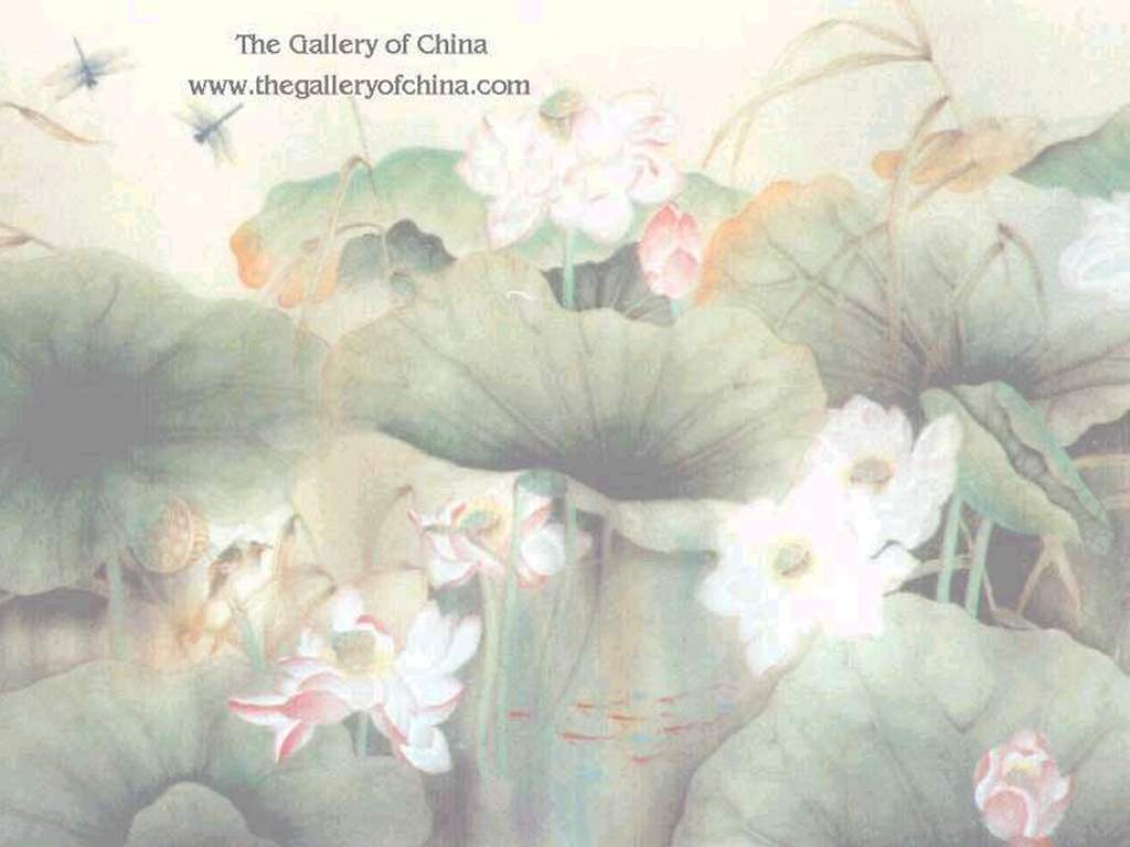 Artistic Wallpaper: Chinese Gallery - Lotus