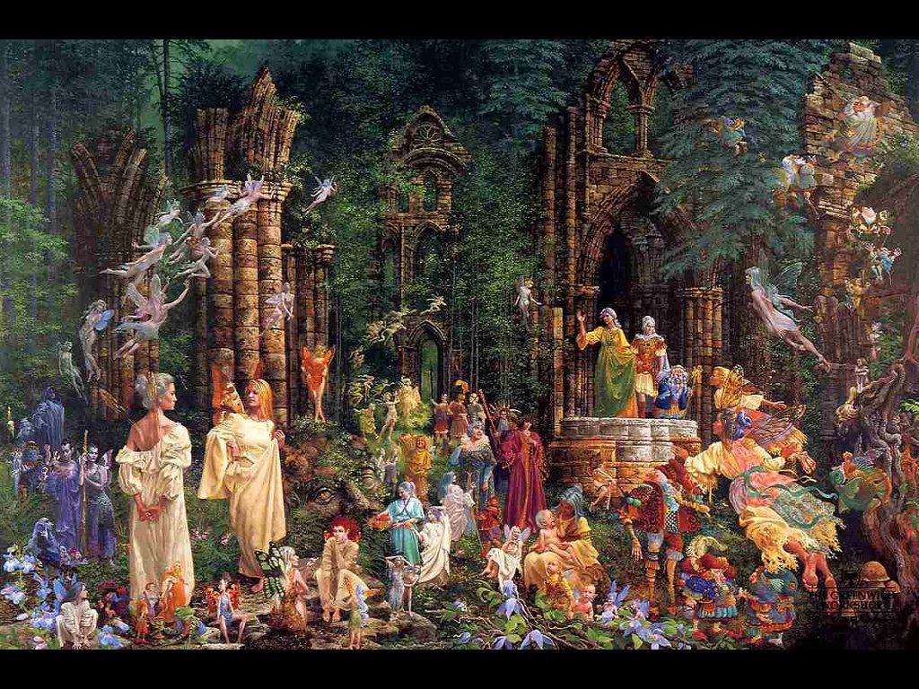 Artistic Wallpaper: Christensen - Court of Faeries