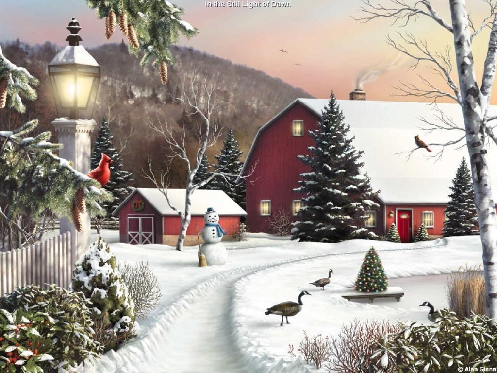 Artistic Wallpaper: Christmas Landscape