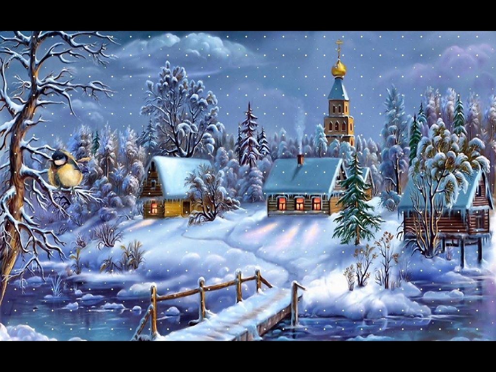 Artistic Wallpaper: Christmas - Town