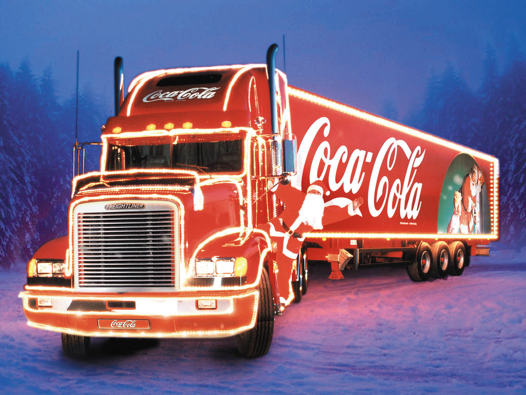 Artistic Wallpaper: Coke - Christmas