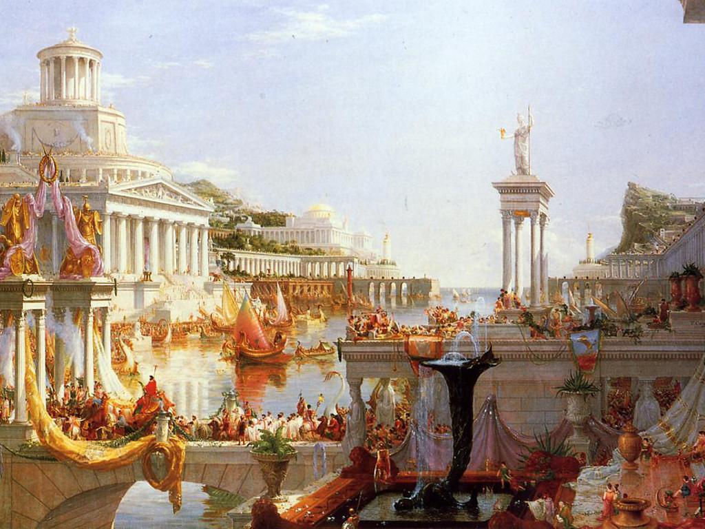 Artistic Wallpaper: Cole - The Course of Empire: The Consummation
