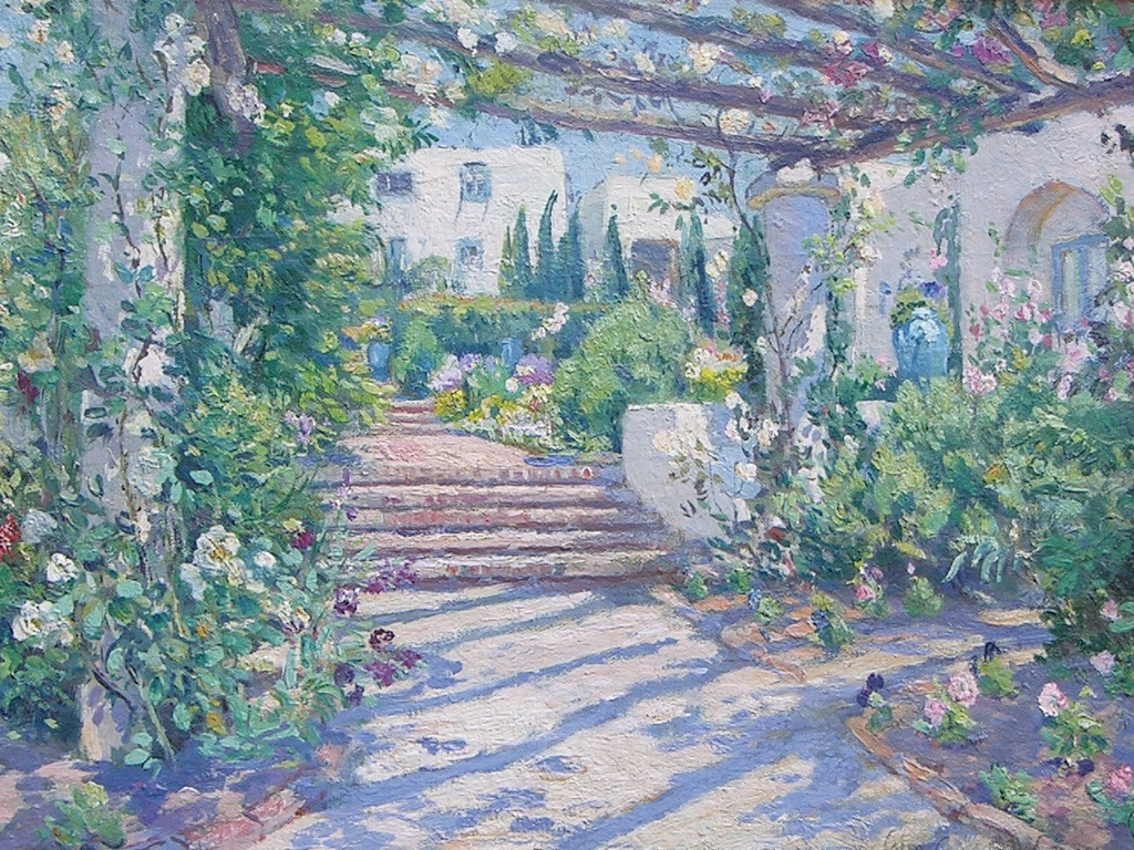 Artistic Wallpaper: Colin Campbell Cooper - Terrace at Samarkand Hotel