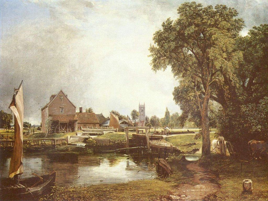 Artistic Wallpaper: Constable - Deadham Mill