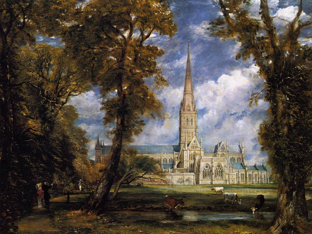 Artistic Wallpaper: Constable - Salisburry Cathedral from the Bishop's Grounds
