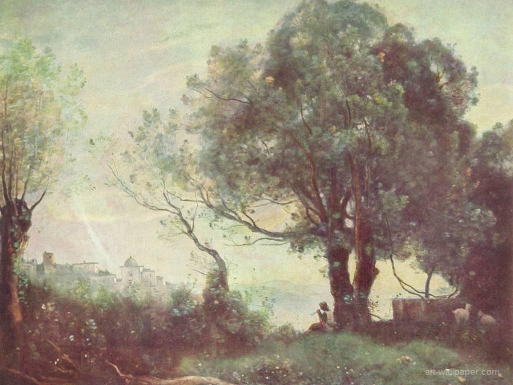 Artistic Wallpaper: Corot - Castelgandolfo Landscape