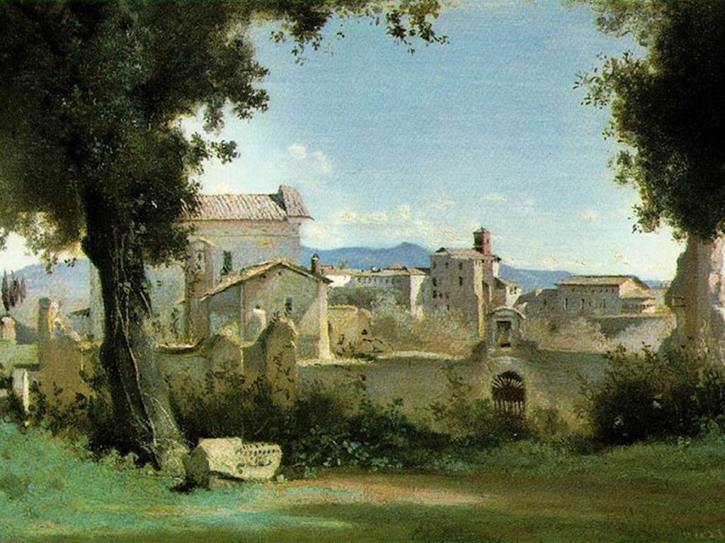 Artistic Wallpaper: Corot - Farnese