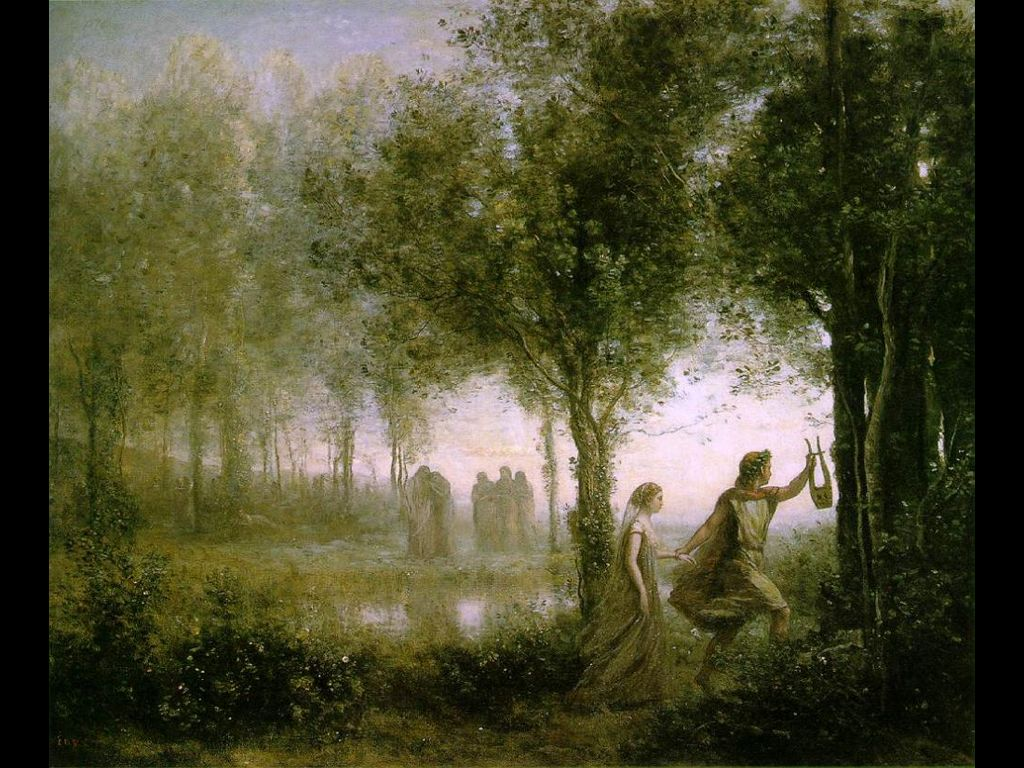 Artistic Wallpaper: Corot - Orpheus Leading Eurydice from the Underworld