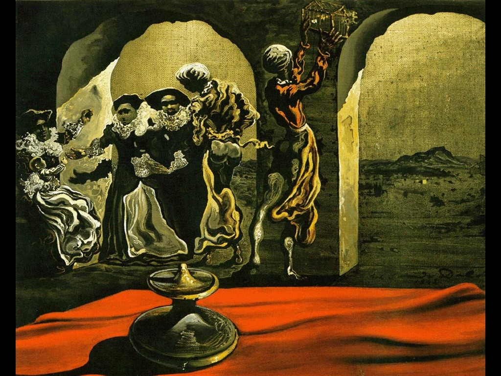 Artistic Wallpaper: Dali - Disappearing Bust of Voltaire