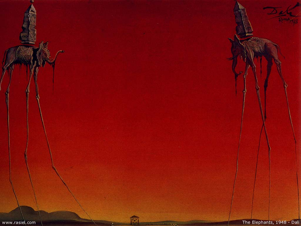 Artistic Wallpaper: Dali - the Elephants