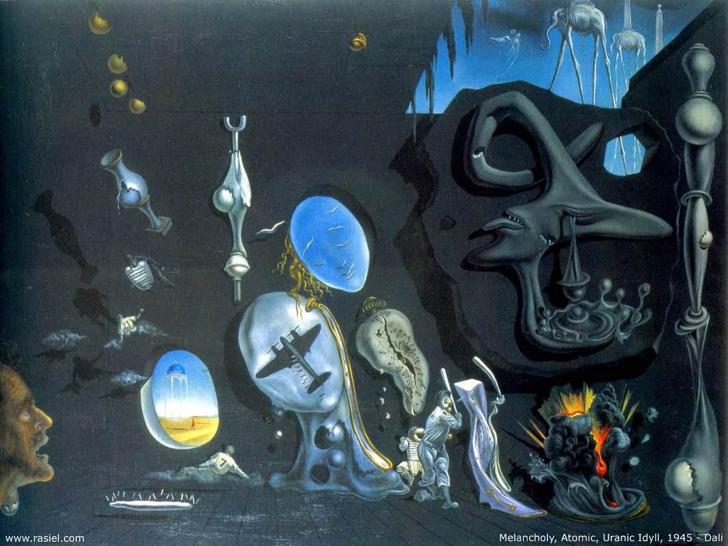 Artistic Wallpaper: Salvador Dali - Melancholy, Atomic, Uranic Idyll