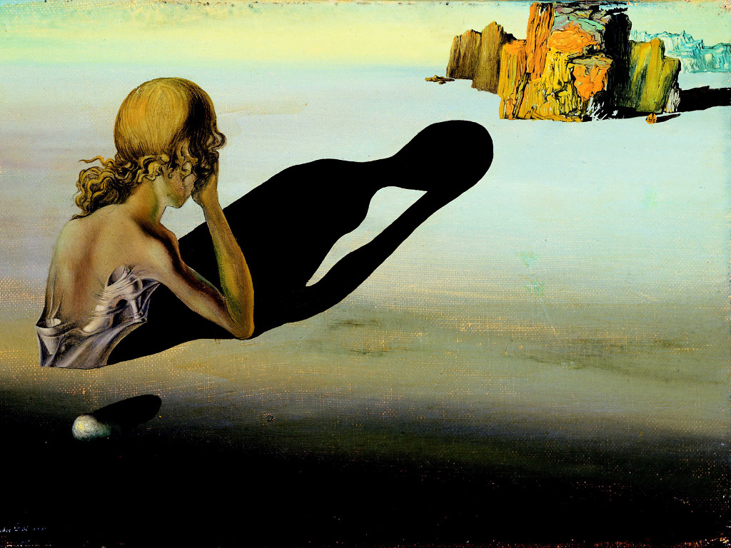 Artistic Wallpaper: Dali - Remorse or Sphinx Embedded in the Sand