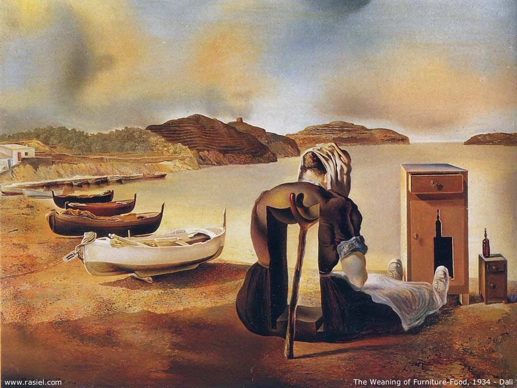 Artistic Wallpaper: Dali - The Weaning of Furniture Food