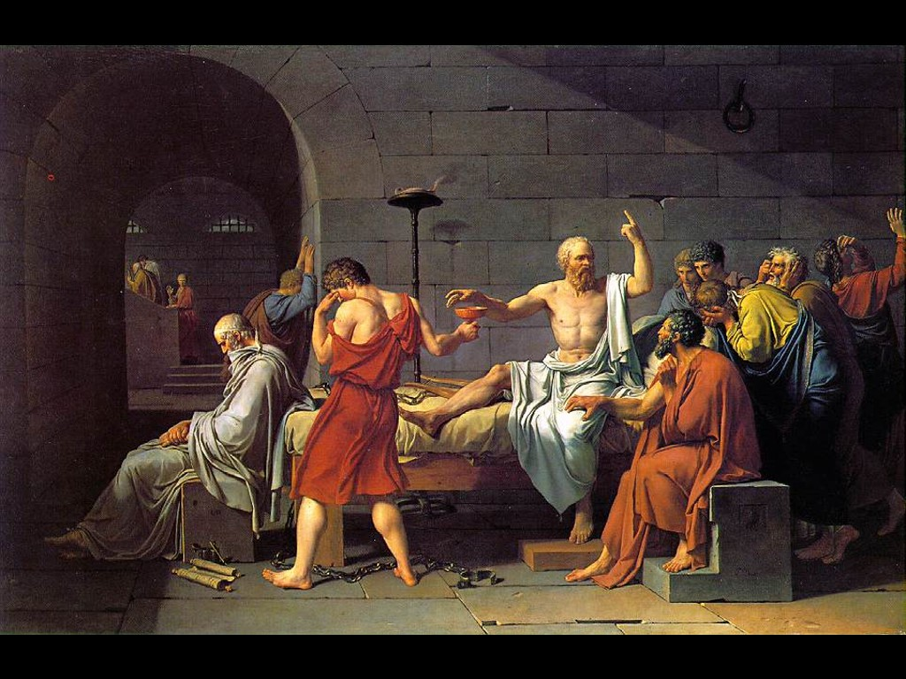 Artistic Wallpaper: David - The Death of Socrates