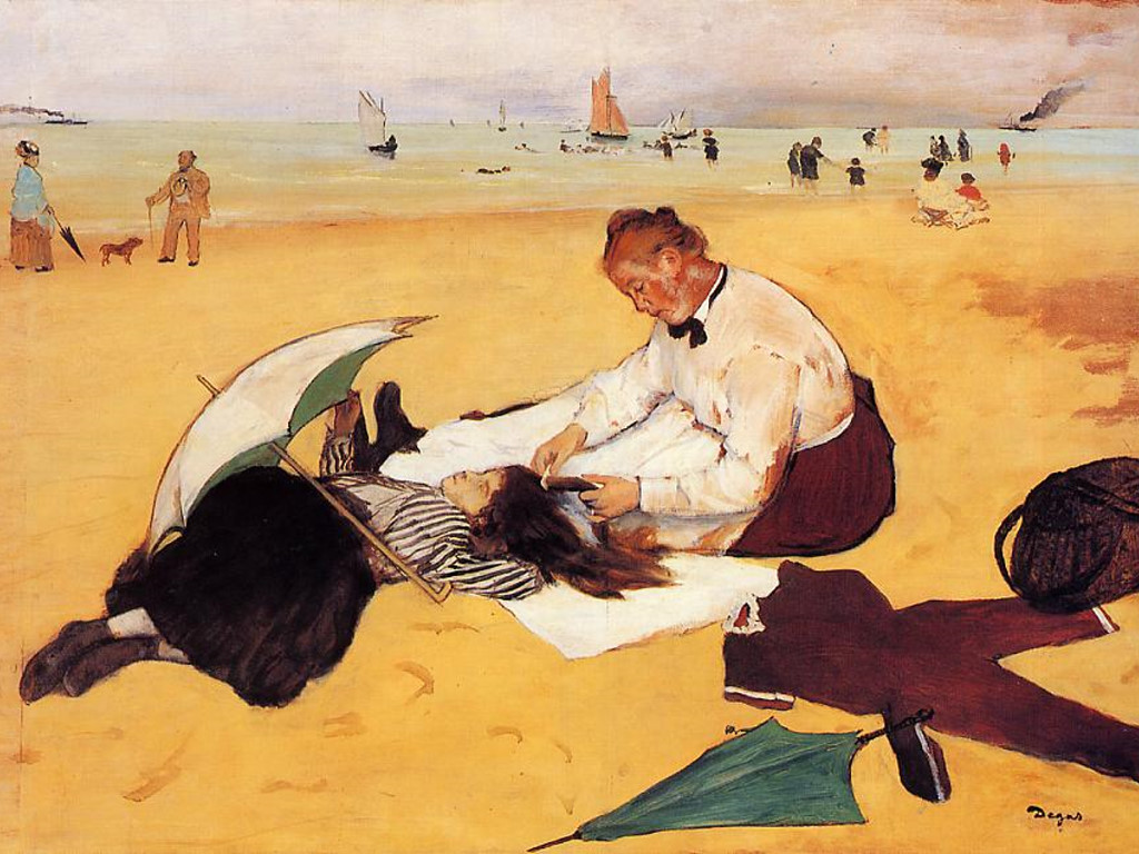 Artistic Wallpaper: Degas - Beach Scene