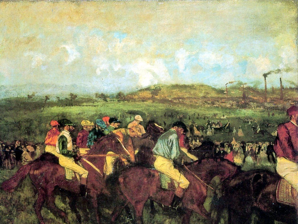 Artistic Wallpaper: Degas - Course de Gentlemen