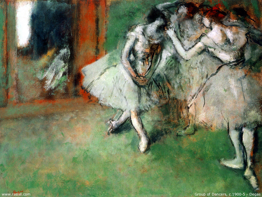 Artistic Wallpaper: Degas - Group of Dancers