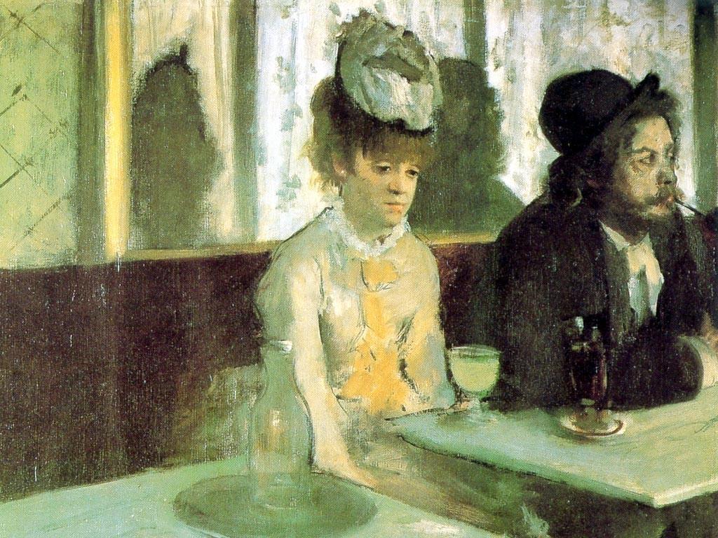 Artistic Wallpaper: Degas - L' Absinthe