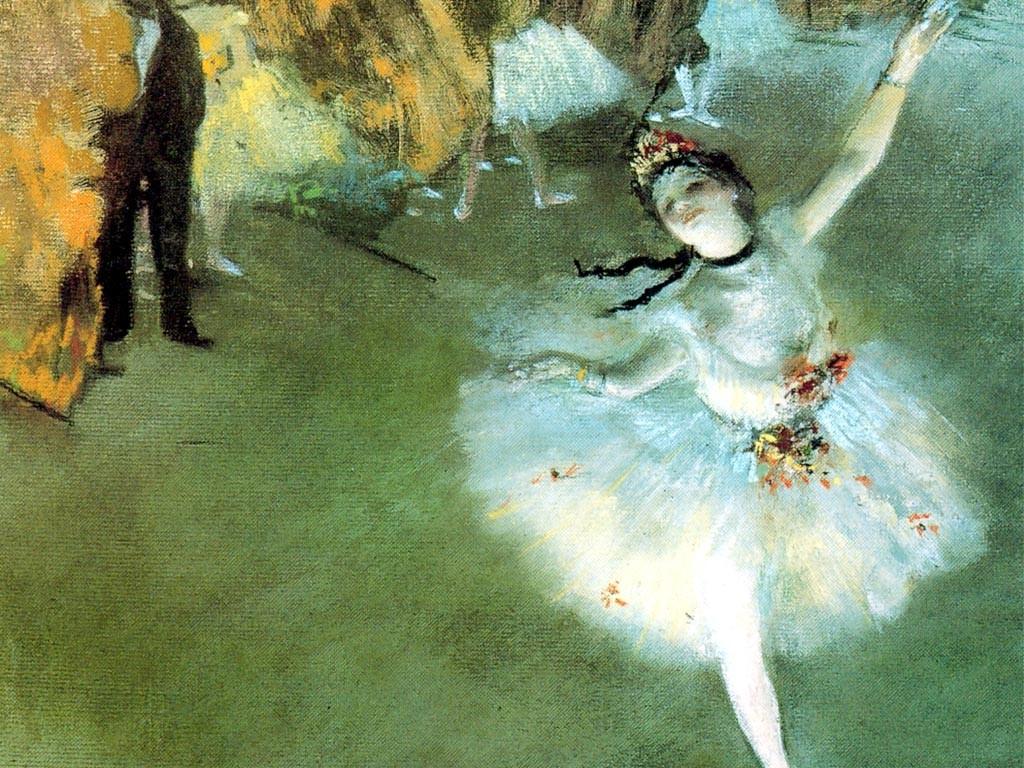 Artistic Wallpaper: Degas - L' Etoile