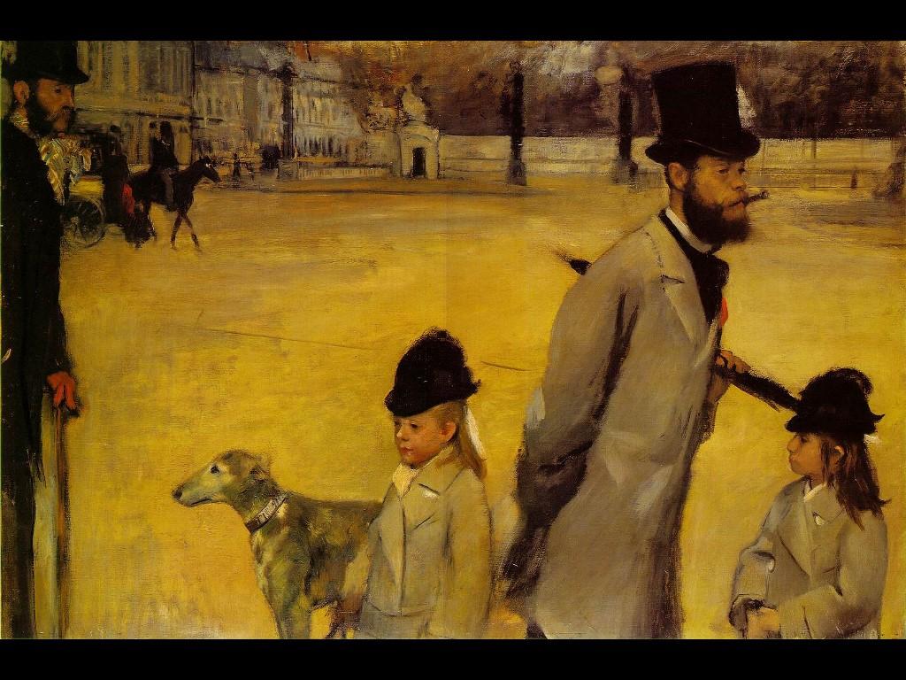Artistic Wallpaper: Degas - Place de La Concorde
