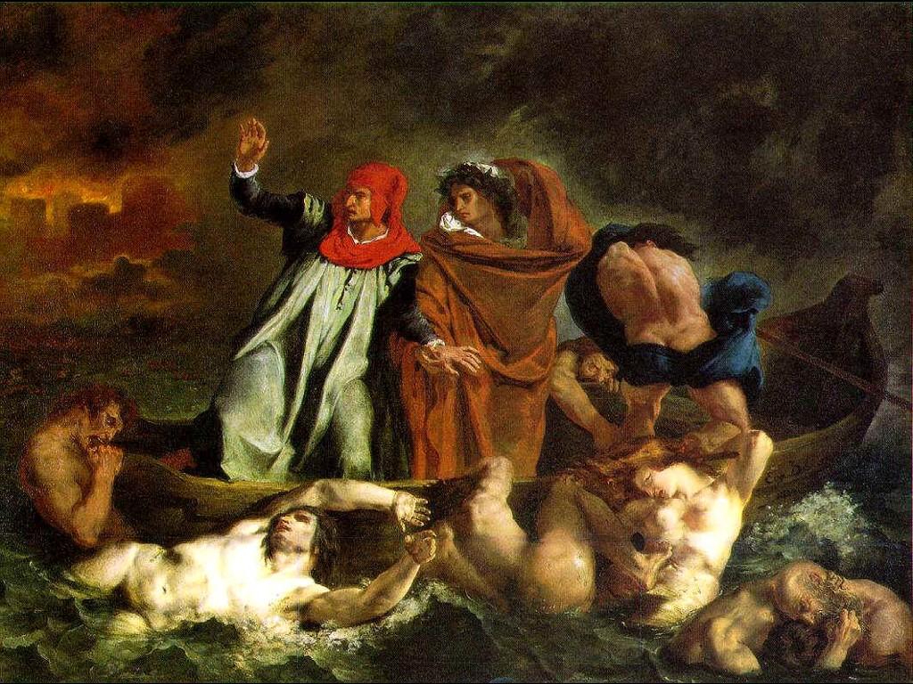 Artistic Wallpaper: Delacroix - Dante and Virgil