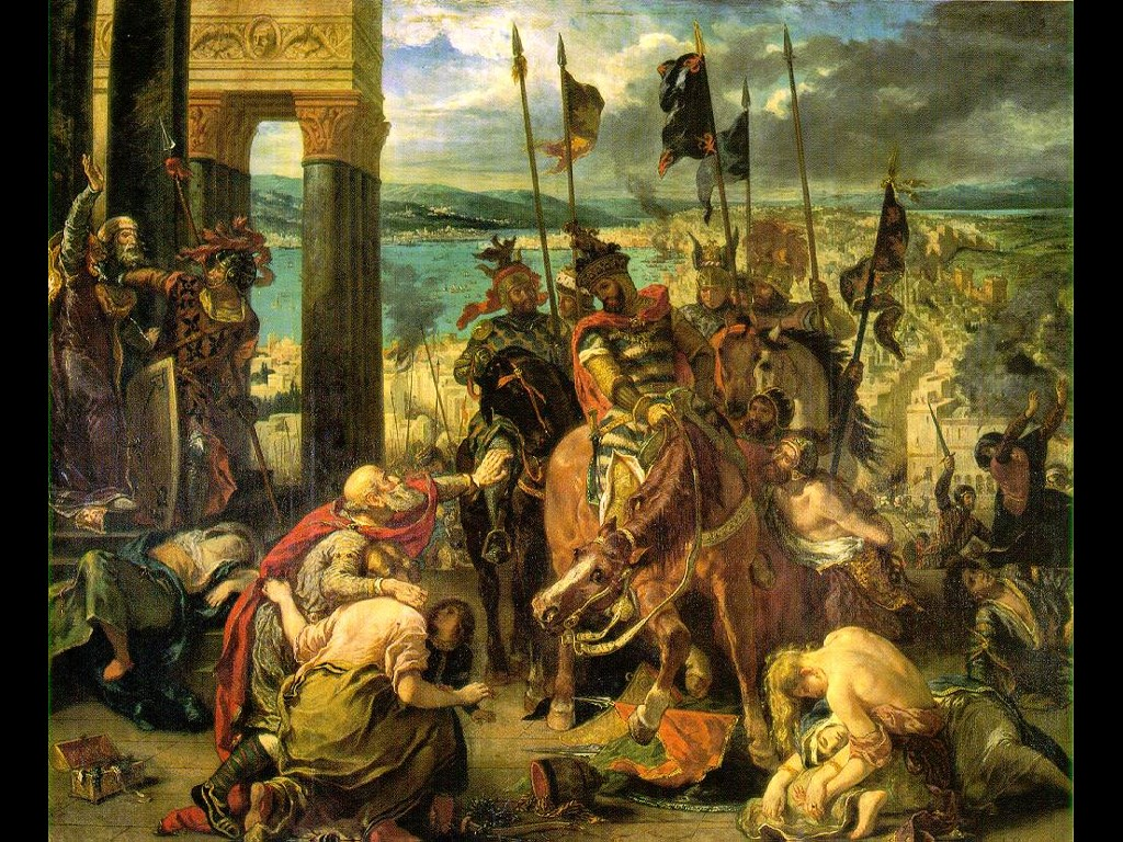 Artistic Wallpaper: Delacroix - Entry of the Crusaders Into Constantinople