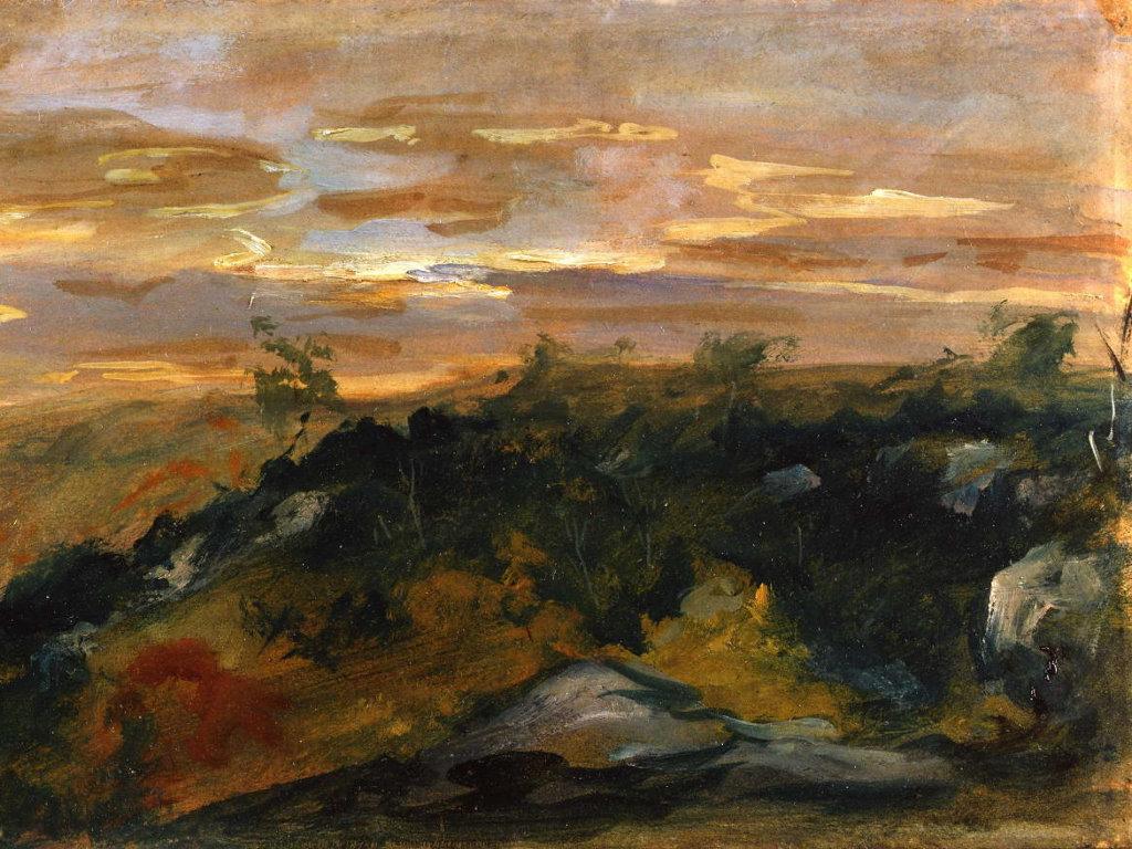 Artistic Wallpaper: Delacroix - Landscape