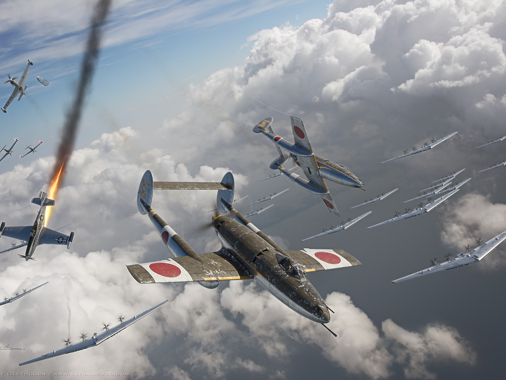 Artistic Wallpaper: Digital Aviation Art