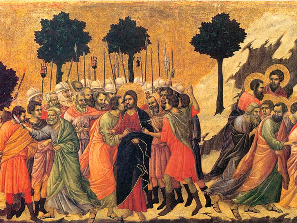 Artistic Wallpaper: Duccio Maesta - Betrayal of Christ