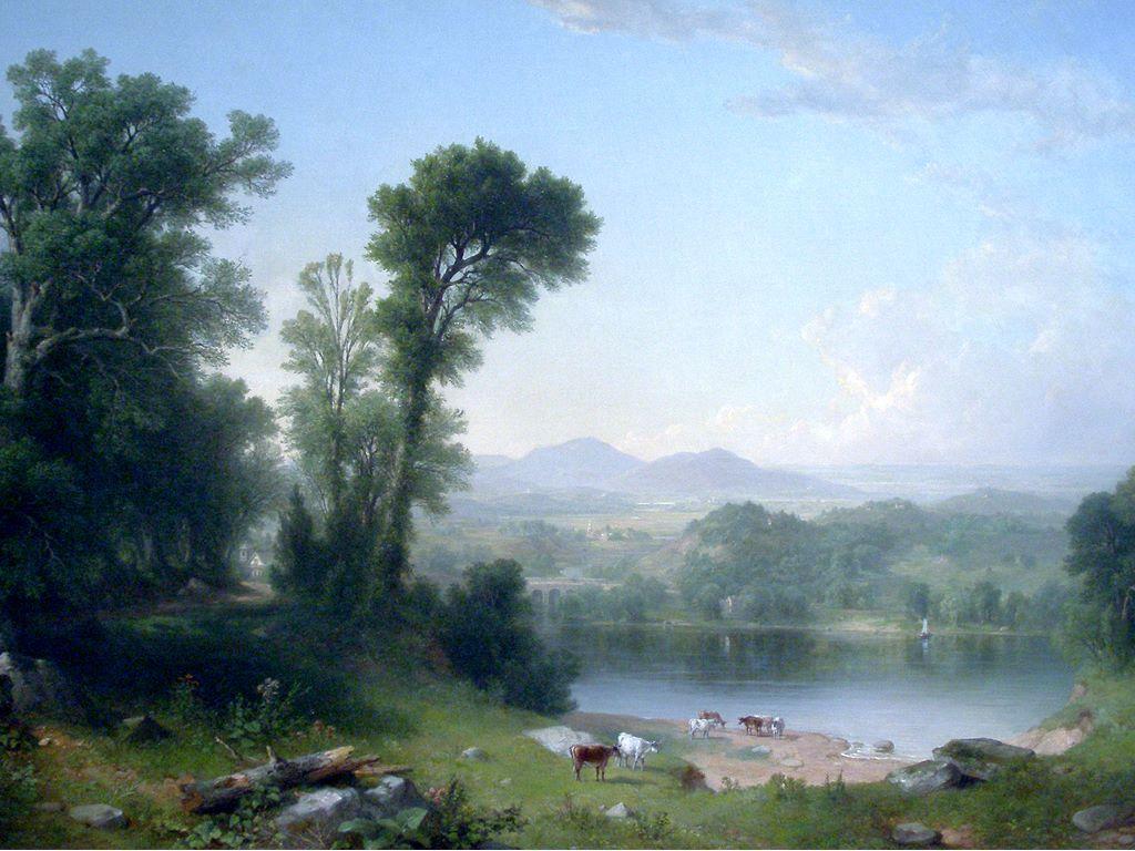 Artistic Wallpaper: Durand - Pastoral Landscape
