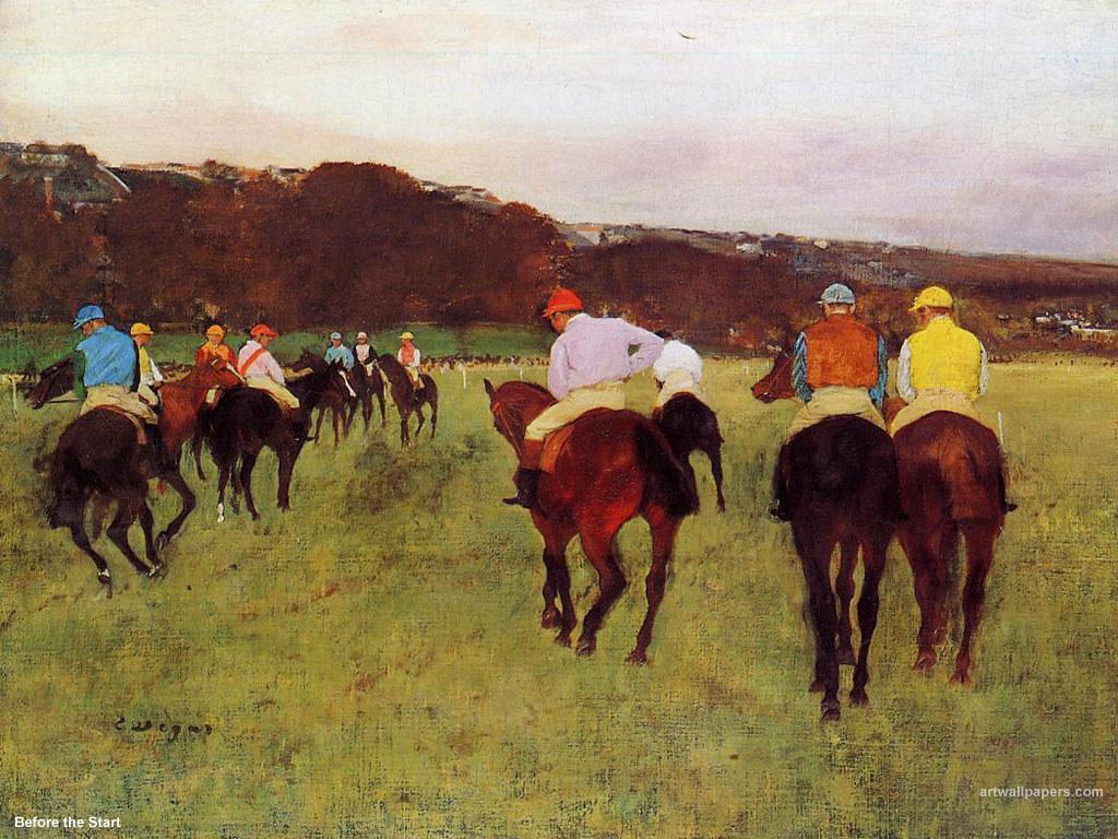 Artistic Wallpaper: Edgar Degas - Before the Start