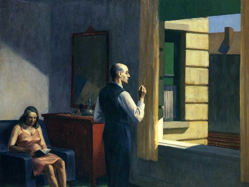 Artistic Wallpaper: Edward Hopper - Hotel by a Railroad