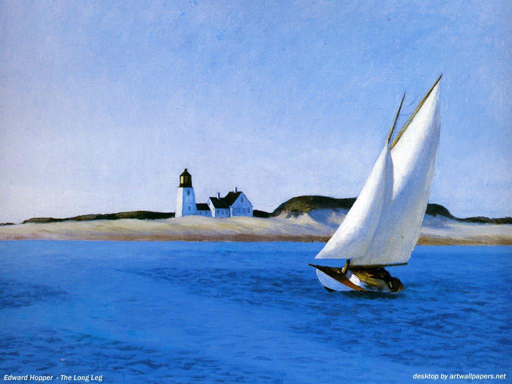 Artistic Wallpaper: Edward Hopper - The Long Leg