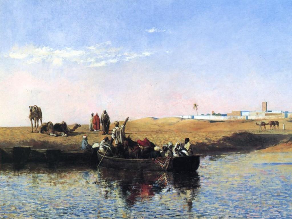 Artistic Wallpaper: Edwin Lord Weeks - Scene at Sale Moroco