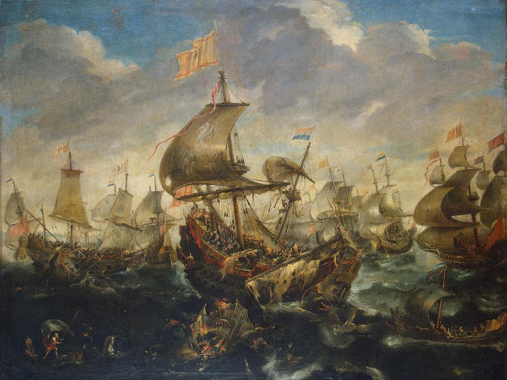 Artistic Wallpaper: Eertvelt - Sea Battle