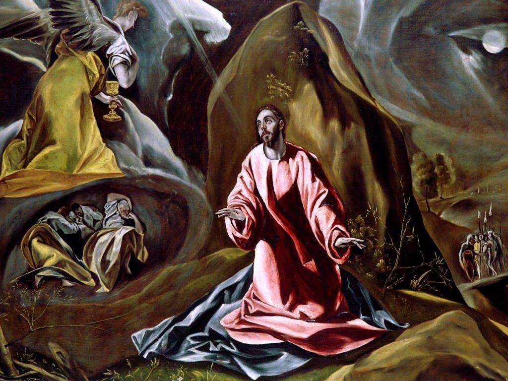 Artistic Wallpaper: El Greco - The Agony in the Garden