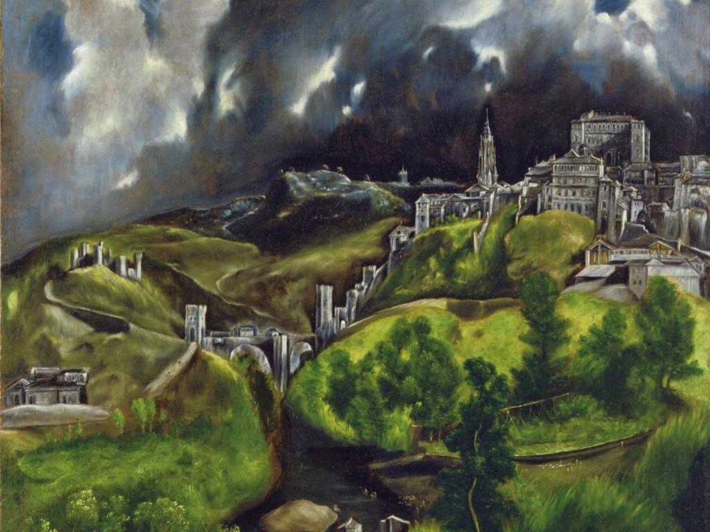 Artistic Wallpaper: El Greco - Toledo