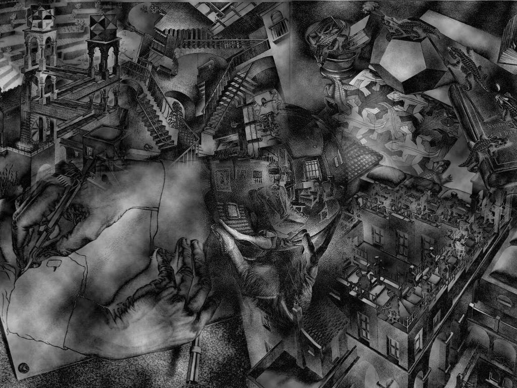 Artistic Wallpaper: Escher - Collage