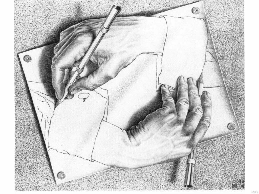 Artistic Wallpaper: Escher - Drawing Hands