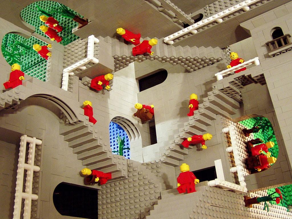 Artistic Wallpaper: Escher (in LEGO!)