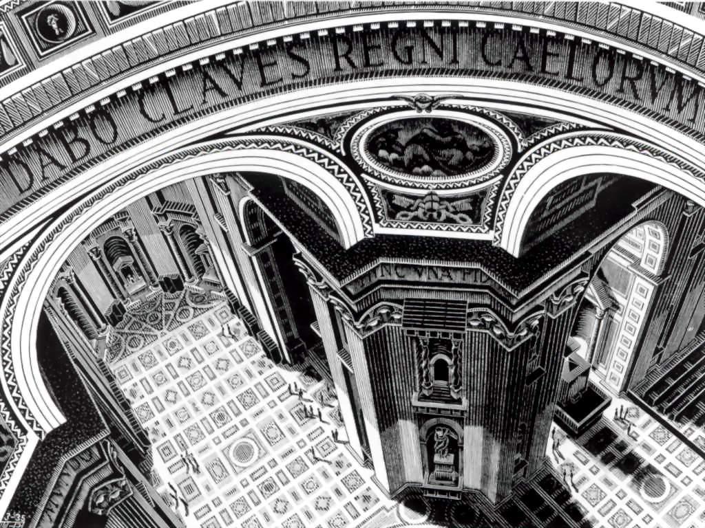 Artistic Wallpaper: Escher - St. Peter (Rome)