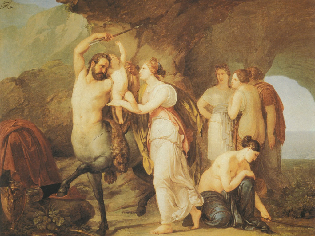 Artistic Wallpaper: Francesco Hayez - The Education of Achilles