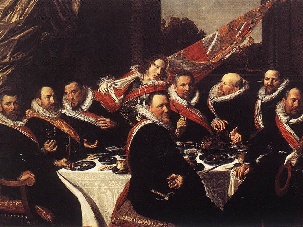 Artistic Wallpaper: Frans Hals - Officers Of The Guard Of St George