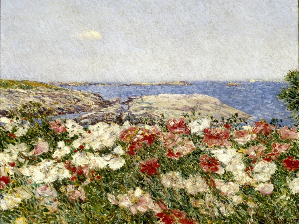 Artistic Wallpaper: Frederick Childe Hassam - Poppies on the Isles of Shoals