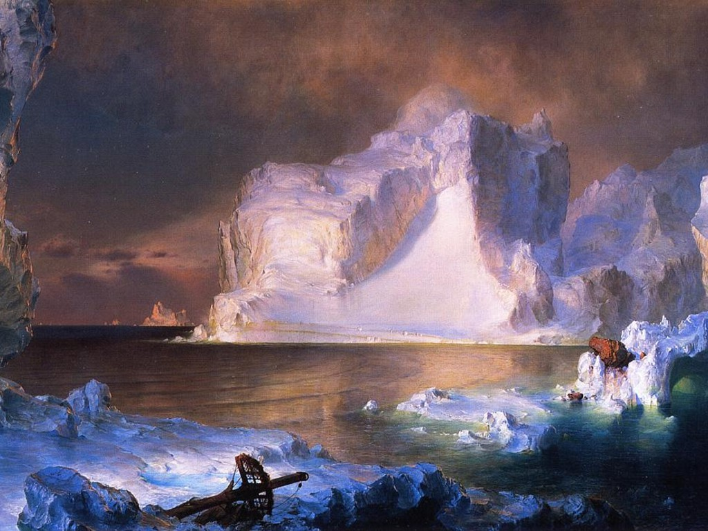 Artistic Wallpaper: Frederick Church - The Icebergs