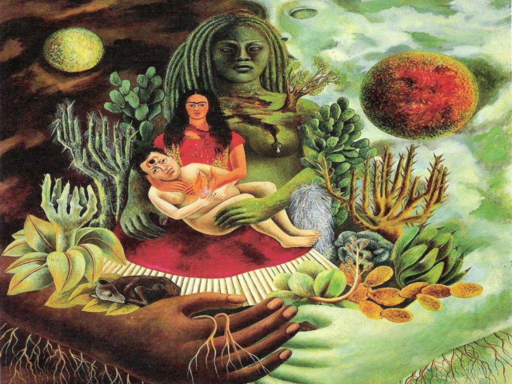 Artistic Wallpaper: Frida Kahlo - Abrazo Amoroso