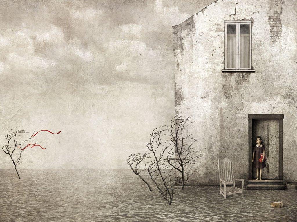 Artistic Wallpaper: Gabriel Pacheco - Tres Niñas