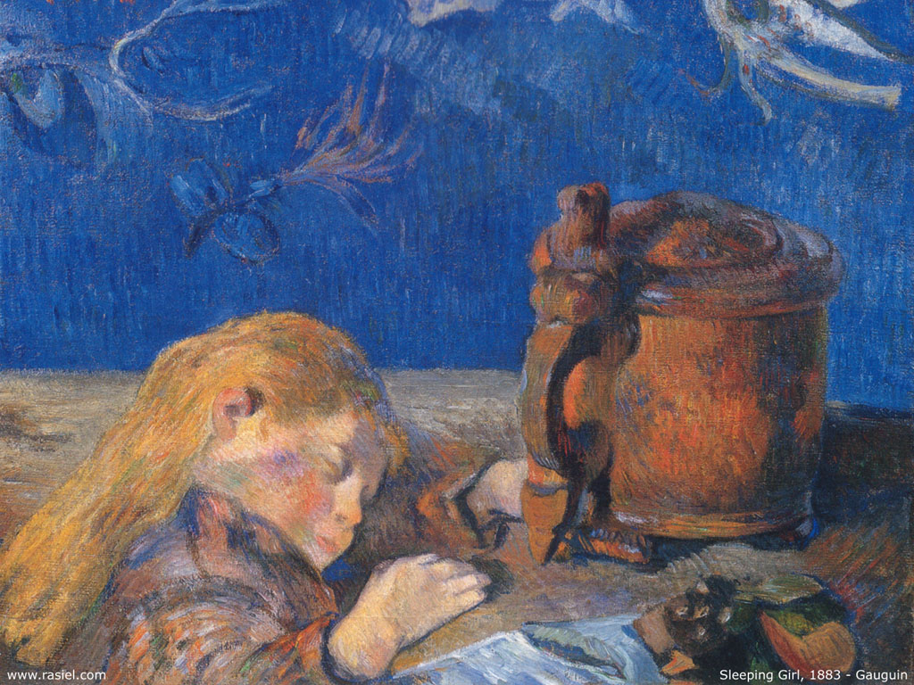 Artistic Wallpaper: Gauguin - Sleeping Girl