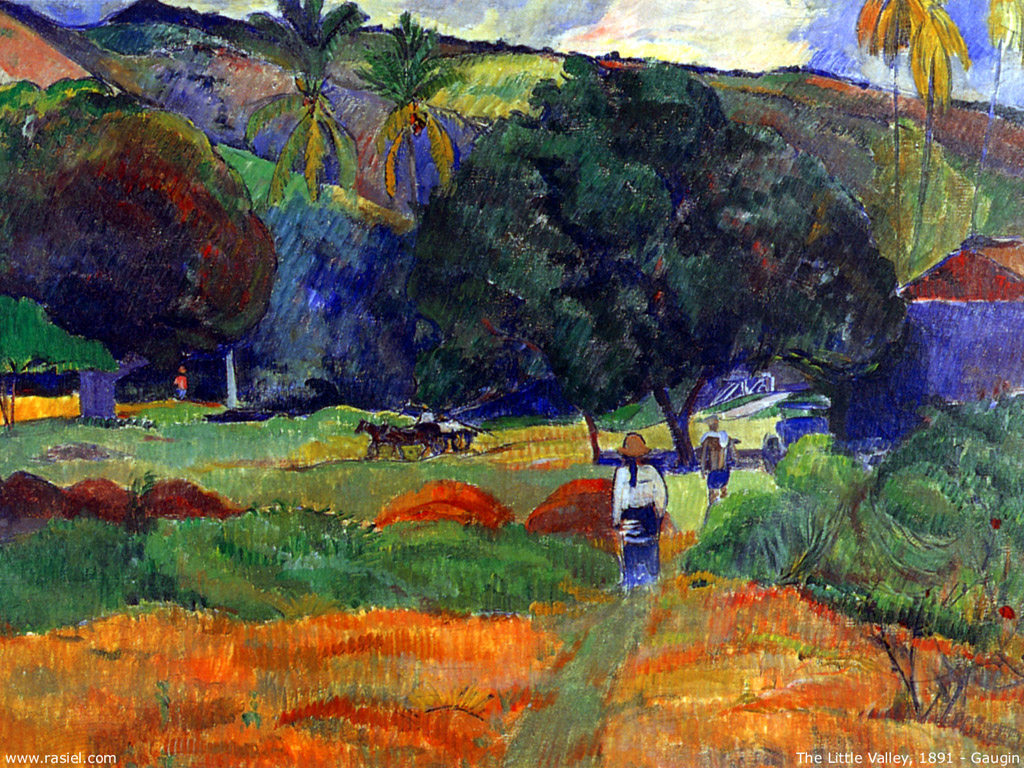 Artistic Wallpaper: Gauguin - the Little Valley